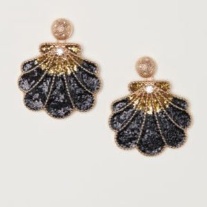 HM Black sparkly shell statement earrings